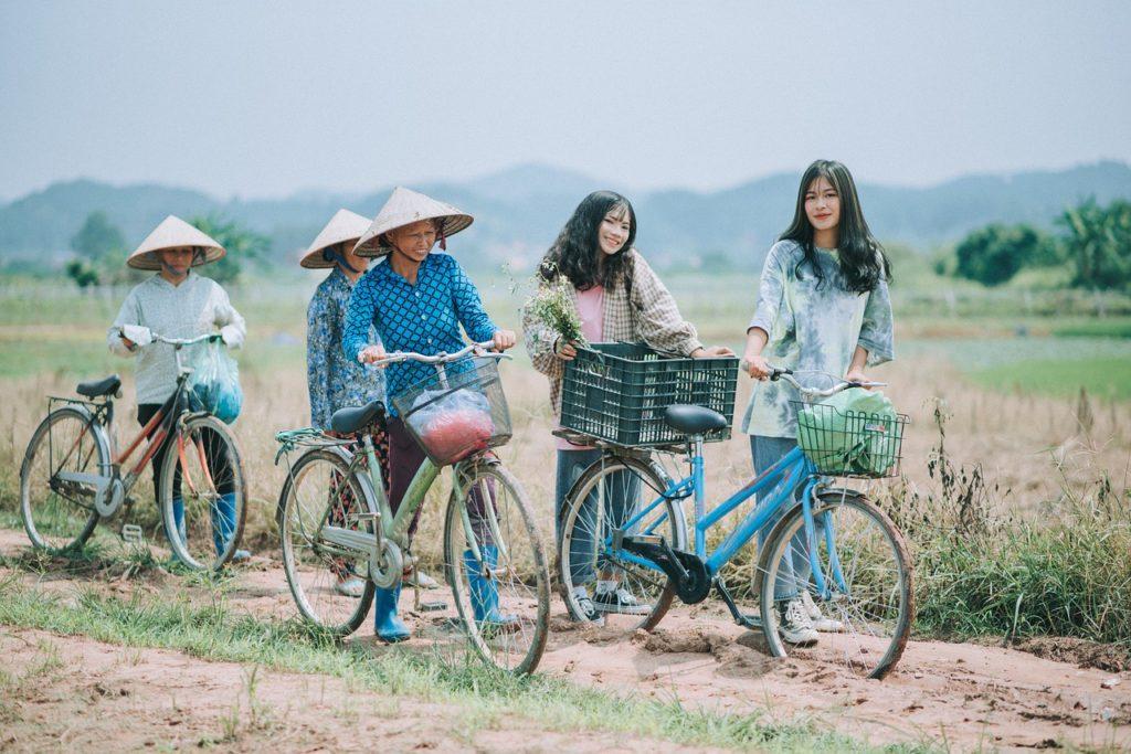 outdoor, bike, women